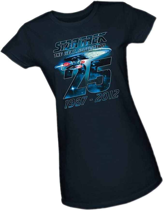 Star Trek Next Generation TNG 25TH ANNIV CREW Licensed Women/'s T-Shirt All Sizes