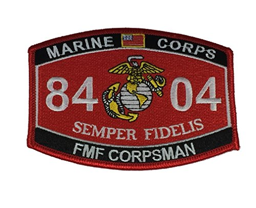 (MARINE CORPS 8404 FMF CORPSMAN SEMPER FIDELIS MOS Patch - Vivid Colors - Veteran Owned)