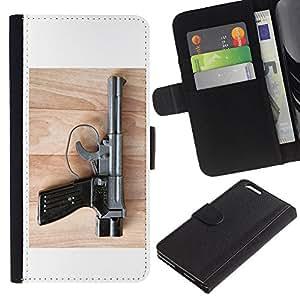 JackGot ( kompleks pistoletnyy ) Apple (5.5 inches!!!) iPhone 6+ Plus / 6S+ Plus la tarjeta de Crédito Slots PU Funda de cuero Monedero caso cubierta de piel