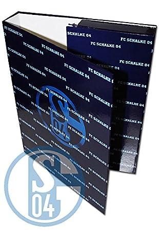 Heftebox FC Schalke 04 Sammelmappe // Dokumentenmappe // Ordner // Sammelbox // Aufbewahrungsmappe S04 - Book Box Bo/îte de livre caja hefte