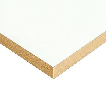 Builder Merchant White Melamine MDF 18mm x 8 x 4ft 1, 2440mm