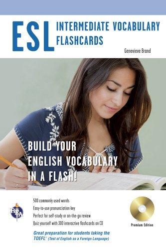 ESL Vocabulary Flashcards w/Audio CD (English as a Second Language Series)
