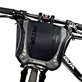 WILDMAN Bicycle Basket Handlebar Bag with Sliver Grey Reflective Stripe Outdoor Activity Bicycle Pack Accessories