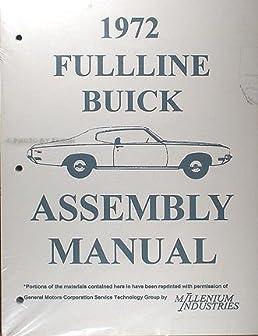 1972 buick factory assembly manual skylark, lesabre, electra, gran 1972 Volvo P1800 Wiring Diagram  1990 Buick LeSabre Engine Diagram 1987 Grand National Wiring-Diagram 1965 Buick Riviera Wiring Diagram