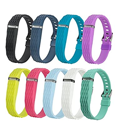 Fitbit Passometer Silicone Replacement Wristband Bracelets/ Fit bit Flex Wireless Activity and Sleep Tracker Silicon Wrist Bands with Watch Buckle, One Size