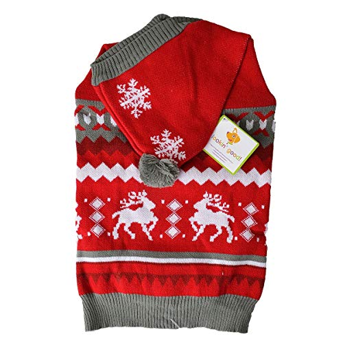 Ethical Holiday Pet Sweater Colorful Snowflake Embroidery Dog Supplies Large
