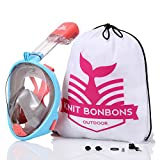 180° Panoramic View Snorkel Mask Full Face Scuba, Dive and Swim Set for Kids Youth Adult Women Men | Easier Breath with Dry Anti-Fog Anti-Leak for Travel Beach Sea Underwater Swimming Pool