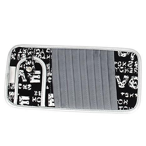 Amazon.com: Padrão DealMux Grey Flower Black Sun Visor Titular 10 Slots DVD VCD Armazenamento: Car Electronics