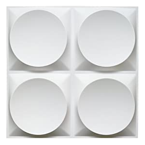 Art3d White Wall Panels Moden 3D Wall Decor, Moon Surface Design, 12 Tiles 32 SF