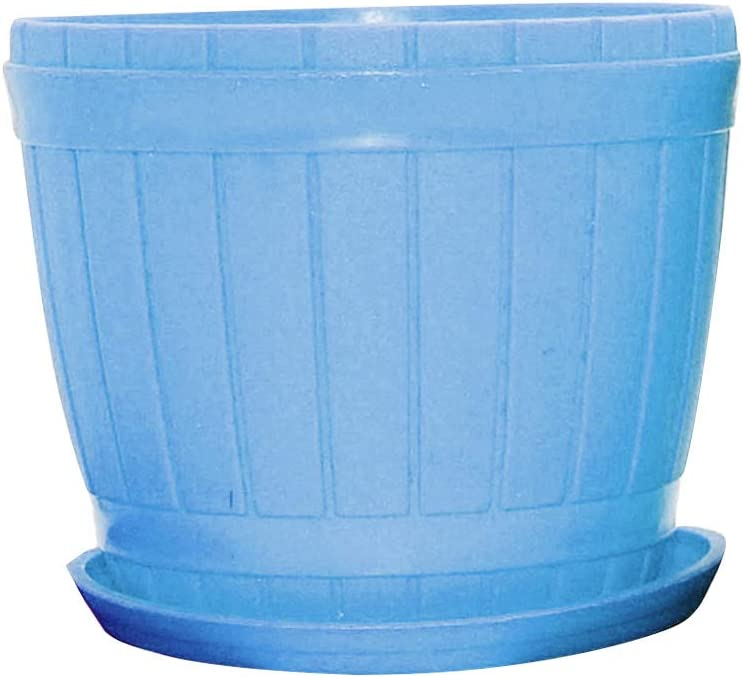 heave Plastic Planters Colorful Flower Plant Pots with Multiple Drainage Holes and Tray,Indoor/Outdoor Plant Pot Container for Home Office Garden Flowers and Plants Blue XL
