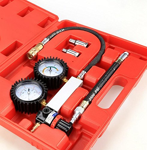 Meoket Fuel Injector Injection Pump Tu-21 Cylinder Leakage Leak Detector Engine Compression Tester Gauges Set