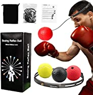 Boxing Reflex Ball GROOFOO Boxing Training Ball for Kids Adults with Headband 3 Different Level Balls for Spee