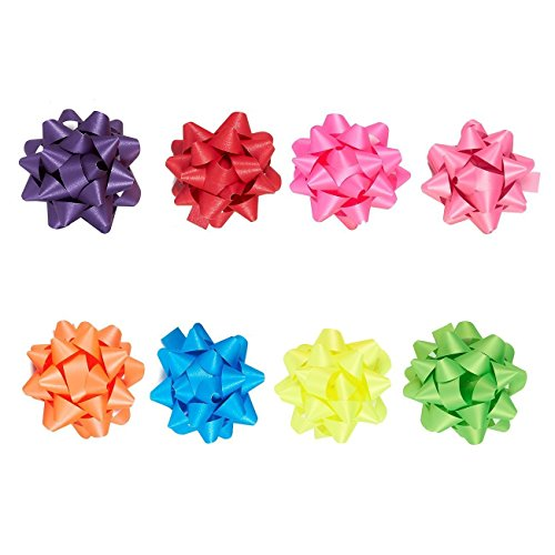 Gift Bows Assorted 40 Count Peel n Stick Holiday Christmas Craft NEW