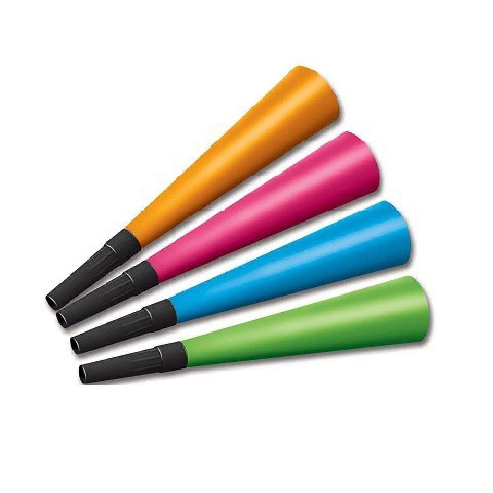 Bargain World Neon Horns - Pack of 100 (with Sticky Notes)