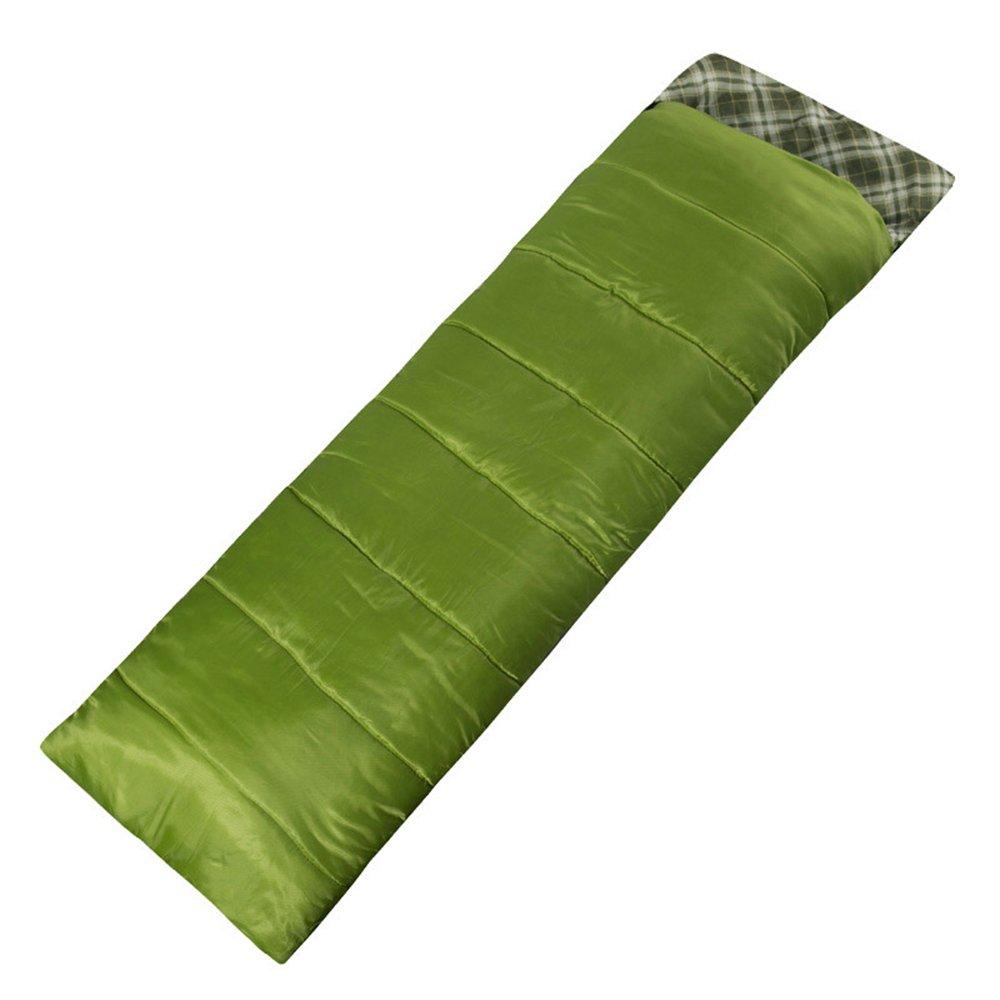 LJHA shuidai エンベロープ寝袋/大人/アウトドアキャンプハイキング/軽量コットン長方形の寝袋(2色展開)(195 + 30)* 75cm (色 : Green) B07FCBKW44 Green Green