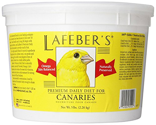 LAFEBER'S Premium Daily Diet Pellets Pet Bird Food, Made with Non-GMO and Human-Grade Ingredients, for Canaries, 5 lbs