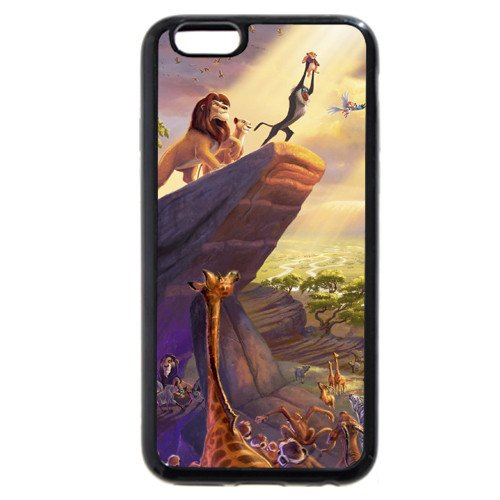 """Customized Black Soft Rubber(TPU) Disney Cartoon the Lion King iPhone Plus 5.5 Case, Only fit iPhone 6+ 5.5"""""""