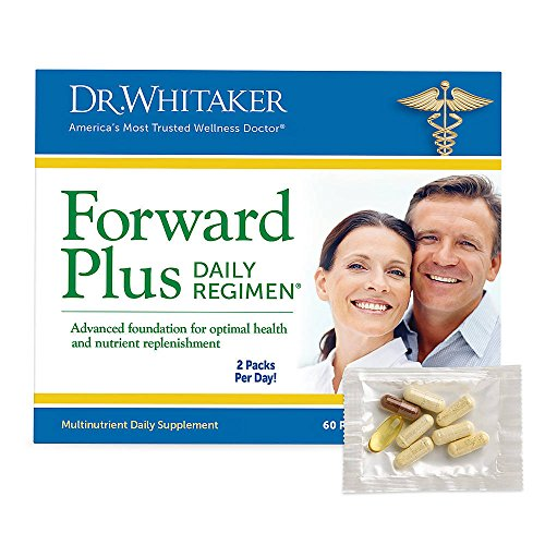 Dr. Whitaker's Forward Plus Daily Regimen - Comprehensive Multivitamin Supplement Supports Optimal Energy, Strength, Vitality, and Stamina - 60 Packets (30-Day Supply) Comprehensive Multivitamin