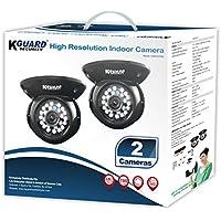 KGUARD Security HD812CPK2 CAM KIT- 700TVL IR Dome Type 65 Night Vision Kit (Black)