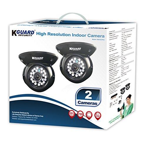 KGUARD Security HD812CPK2 CAM KIT- 700TVL IR Dome Type 65' Night Vision Kit (Dome Type)
