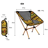 Coohole Ultralight Portable Folding Camping Backpacking Chairs with Carry Bag (Yellow)