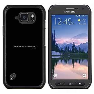 Jordan Colourful Shop - Man Created God For Samsung Galaxy S6 active/G870A/G890A (Not Fit S6) Personalizado negro cubierta de la caja de pl????stico