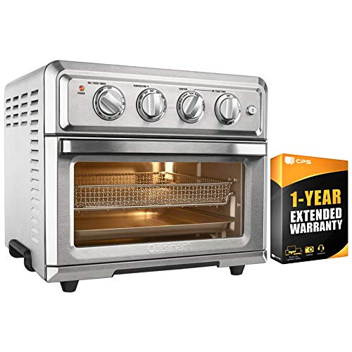 Cuisinart TOA-60 Convection Toaster Oven Air Fryer with Light, Silver w/ 1 Year Extended Warranty by Cuisinart (Image #4)