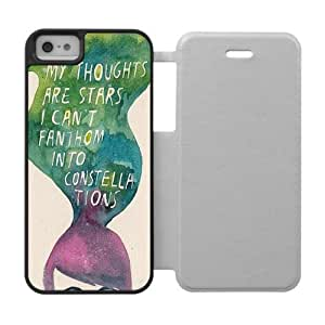 Book Quote The Fault In Our Stars Okay Illustrations Cartoon Cool Personalized Case For Apple Iphone 5 5S - Custom Silicone Rubber Plastic Leather Flip Protective Cover Case
