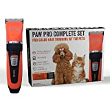 Nawty Paws 11-Piece Cat and Dog Grooming Clippers - Cordless, Rechargeable Pet Hair Clipper - Reliable Dog & Cat Shaver for Short, Long and Undercoat Hair - Durable and Professional Pet Clippers