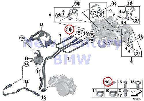 Genuine Bmw Cooling (4 X BMW Genuine Cooling-System Turbocharger Heat PRedection M6 M6 M5 M6 M6 M6 M6)