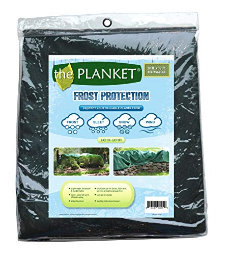 the Planket Frost Protection Plant Cover, 10 ft x 12 ft Rectangular