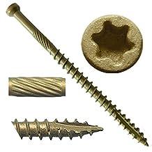 """#7 x 2-1/2"""" Bronze Star Exterior Coated """"Tiny"""" FINISH HEAD Wood Screw Torx/Star Drive Head (Bulk Box) - Finish Head Exterior Coated Torx/Star Drive Wood Screws - Tiny Head Wood Screws"""