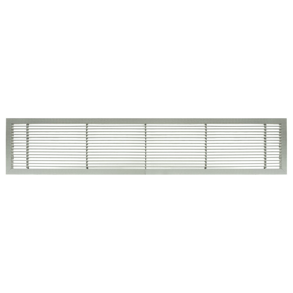 Architectural Grille 100043601 AG10 Series 4'' x 36'' Solid Aluminum Fixed Bar Supply/Return Air Vent Grille, Brushed Satin