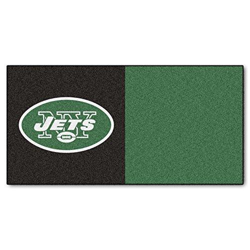 FANMATS NFL New York Jets Nylon Face Team Carpet Tiles by Fanmats