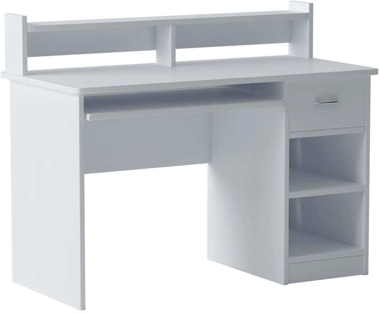 OneSpace Essential Computer Desk, Hutch, White
