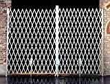 Beacon Galvanized Heavy Duty Steel Folding Gate; Gate Type: Pair; Usable Width (Feet): 16' to 18'; Collapsed Height: 7'; In Use Height: 6' 6