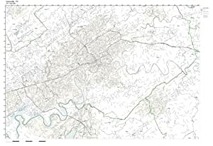 Amazon.com: Working Maps Zip Code Wall Map of Knoxville
