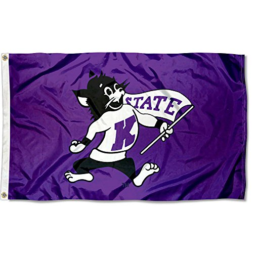 College Flags and Banners Co. K State Wildcats Vintage 3x5 ()