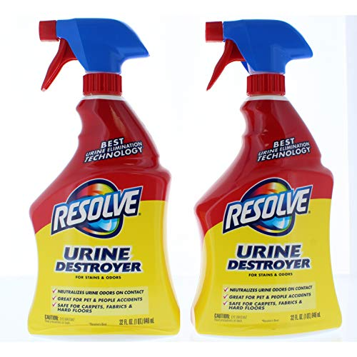 2 Pk. Resolve Urine Destroyer Spray Stain & Odor Remover, 32 Fluid Ounce (64 Fl. Oz Total)