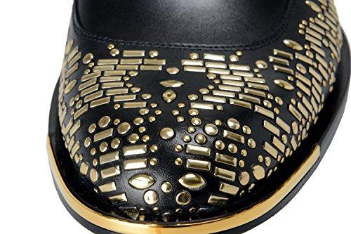Versace Menns Svart Beaded Blonder Opp Oxfords Sko Oss Åtte Det 41;