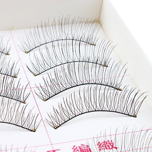 AGPtEK Handmade Natural Fashion Long False Eyelashes For Makeup 10 Pairs