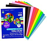 Tru-Ray Pacon Construction Paper 9 in by 12 in Assorted, 5 Pack (50 Count)