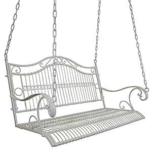 Amazon Com Titan Great Outdoors White Outdoor Swing For Porch Patio Garden Deck Antique
