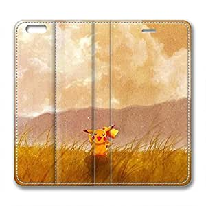 iCustomonline Leather Case for iPhone 6 Plus, Pikachu Stylish Durable Leather Case for iPhone 6 Plus
