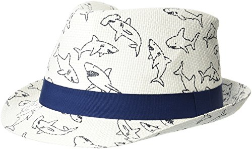 Flap Happy Boys' Toddler UPF 50+ Fedora Hat, Ocean Club, Large