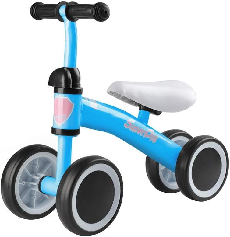 LY Bicicletas sin Pedals for niños pequeños ,4 Ruedas, Edades de 1 a 4 años-Peso Ligero 4 lbs ( Color : Blue )