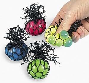 Mesh-Covered Mini Squishy Balls - Novelty Toys & Putty & Squishy Toys
