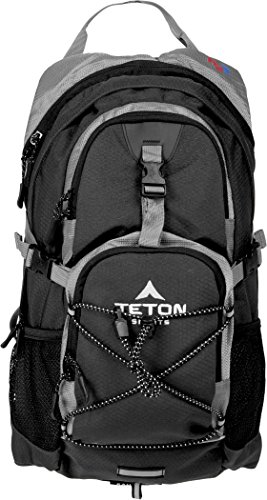 TETON Sports Oasis 1100 2 Liter Hydration Backpack Perfect for Biking, Hiking, Climbing, and Hunting; Black