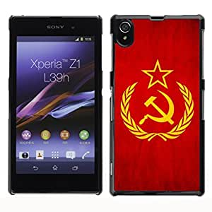 Shell-Star ( National Flag Series-Soviet Union ) Snap On Hard Protective Case For SONY Xperia Z1 / L39H / C6902 / C6903 / C6906
