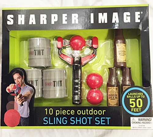 Sharper Image Outdoor Sling Shot Game Set 10 pcs Party Fun